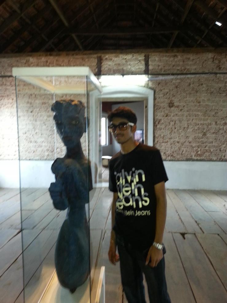 Posing beside an antique... :)